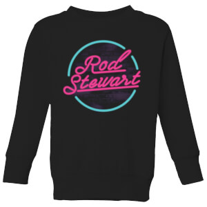 Rod Stewart Neon Kids' Sweatshirt - Black