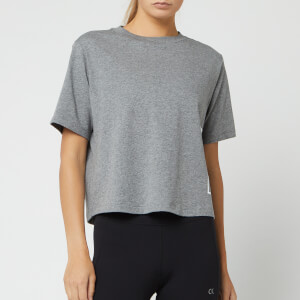 Calvin Klein Performance Women's Logo Short Sleeve T-Shirt - Medium Grey Heather