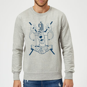 Scooby Doo Coat Of Arms Sweatshirt - Grey