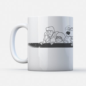 Scooby Doo Gang Retro Stripe Mug