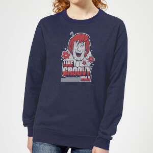 Scooby Doo Like, Groovy Man Women's Sweatshirt - Navy