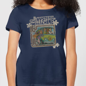 Scooby Doo Mystery Machine Psychedelic Women's T-Shirt - Navy
