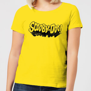 Scooby Doo Retro Mono Logo Women's T-Shirt - Yellow