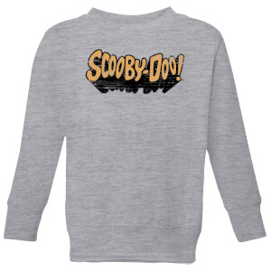 Scooby Doo Retro Colour Logo Kids' Sweatshirt - Grey