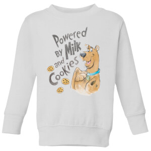Scooby Doo Powered By Milk And Cookies Kids' Sweatshirt - White
