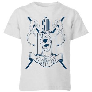 Scooby Doo Coat Of Arms Kids' T-Shirt - Grey