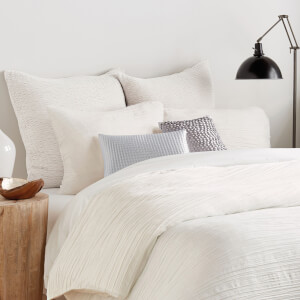DKNY City Pleat Woven Duvet Cover - White