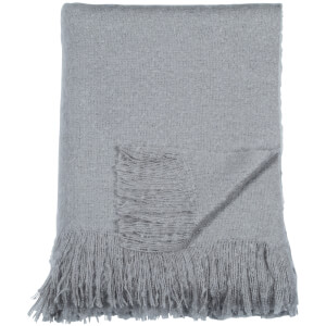DKNY Mohair Look Throw - Grey