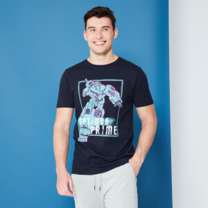 Transformers Optimus Prime Neon T-Shirt - Navy