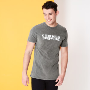 Cartoon Network Spin Off Distressed Logo T-Shirt - Noir Acid Wash