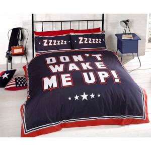 Rapport Don't Wake Me Up Duvet Set - Navy