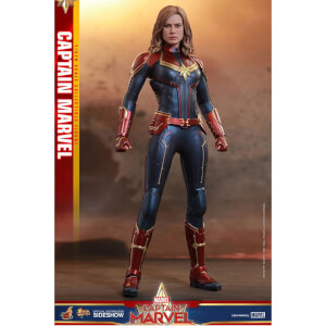Figurine articulée MM Captain Marvel, inspirée du film Captain Marvel, échelle 1:6 (29 cm) – Hot Toys
