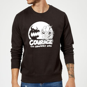Courage The Cowardly Dog Spotlight Sweatshirt - Black