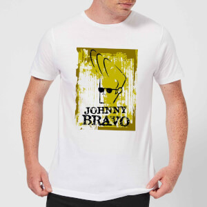 Johnny Bravo Distressed Men's T-Shirt - White