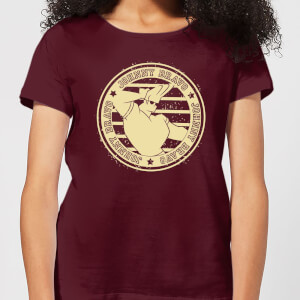 Johnny Bravo Sports Badge Women's T-Shirt - Burgundy