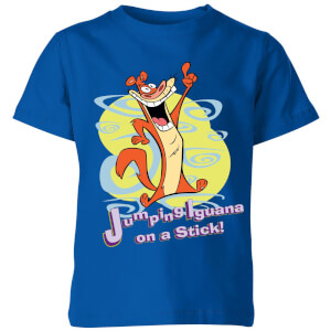 I Am Weasel Jumping Iguana On A Stick Kids' T-Shirt - Royal Blue