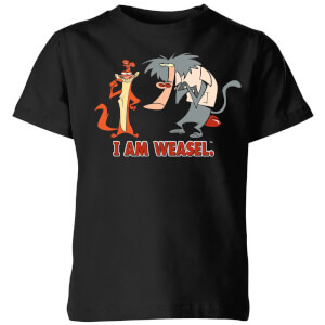 I Am Weasel Characters Kids' T-Shirt - Black