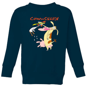 Cow and Chicken Characters Kids' Sweatshirt - Navy