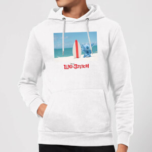 Disney Lilo And Stitch Surf Beach Hoodie - White