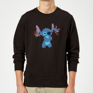 Felpa Disney Lilo And Stitch Little Devils - Nero