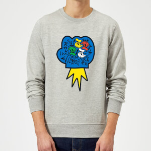 Donald Duck Pop Fist Sweatshirt - Grey