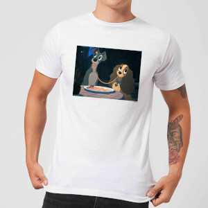 Disney Lady And The Tramp Spaghetti Scene Herren T-Shirt - Weiß