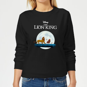 Felpa Disney Re Leone Hakuna Matata Walk - Nero - Donna