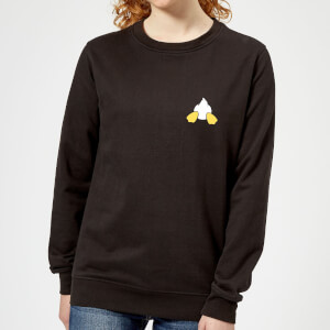 Disney Donald Duck Backside Damen Sweatshirt - Schwarz