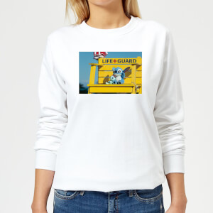Disney Lilo And Stitch Life Guard Women's Sweatshirt - White