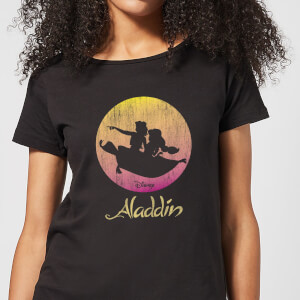 Disney Aladdin Flying Sunset Damen T-Shirt - Schwarz