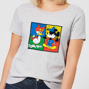 Disney Mickey And Donald Clothes Swap Women's T-Shirt - Grey
