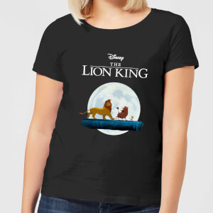T-Shirt Disney Re Leone Hakuna Matata Walk - Nero - Donna