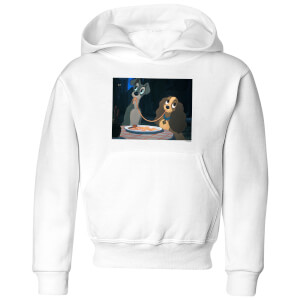 Disney Lady And The Tramp Spaghetti Scene Kids' Hoodie - White
