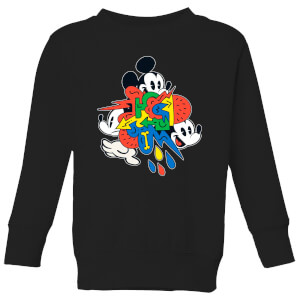 Disney Mickey Mouse Vintage Arrows Kinder Sweatshirt - Schwarz