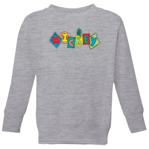 Disney Mickey Fruit Blocks Kids' Sweatshirt - Grey