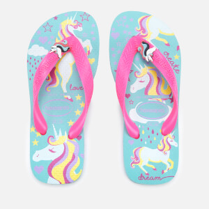 Havaianas Kid's Fantasy Flip Flops - Ice Blue/Shocking Pink