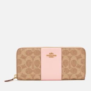Coach Women's Colourblack Coated Canvas Wallet - Tan/Blossom
