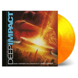 James Horner - Deep Impact (Soundtrack) [2LP] (LIMITED ''FLAMING'' SOLID YELLOW & SOLID ORANGE MIXED 180 Gram Audiophile Vinyl, gatefold, first time on vinyl, numbered to 750)