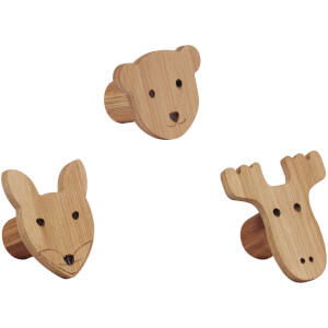 Kids Concept Figure Hooks - Set of 3