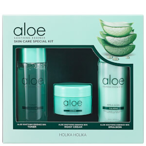 Holika Holika Aloe Soothing Essence Skin Care Special Kit (Worth $57)