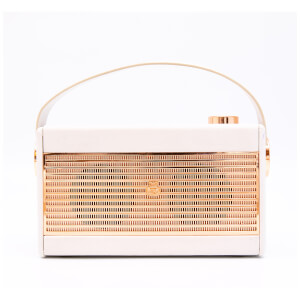 GPO Darcy AM/FM Radio - Cream/Gold