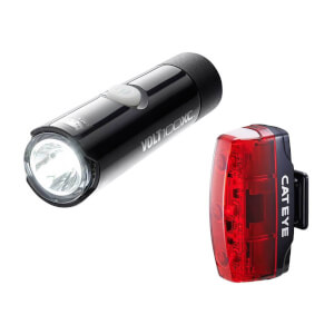 Cateye Volt 100 XC Front and Rapid Micro Rear LED USB Rechargeable Light Set