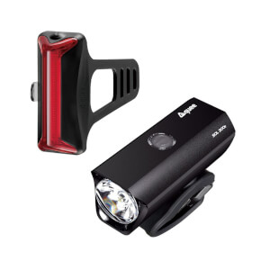 Guee SOL 300E Front and Cob-X Rear Rechargeable Bike Light Set