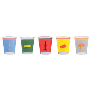 Thunderbirds Mini Glasses - Set of 5