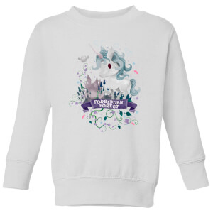 Harry Potter Kids Forbidden Forest Unicorn Kids' Sweatshirt - White