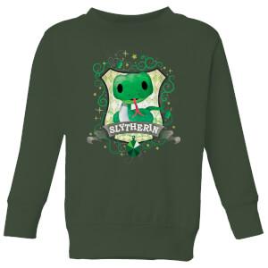 Harry Potter Kids Slytherin Crest Kids' Sweatshirt - Forest Green