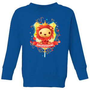 Harry Potter Kids Gryffindor Crest Kids' Sweatshirt - Royal Blue