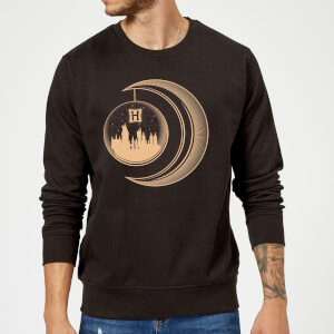 Harry Potter Globe Moon Sweatshirt - Black