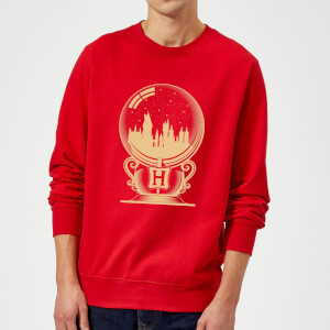 Harry Potter Hogwarts Snowglobe Sweatshirt - Red