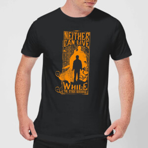 Harry Potter Neither Can Live Men's T-Shirt - Black
